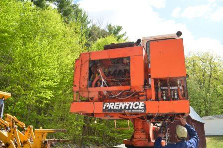 Back of Prentice 210B Log Crane