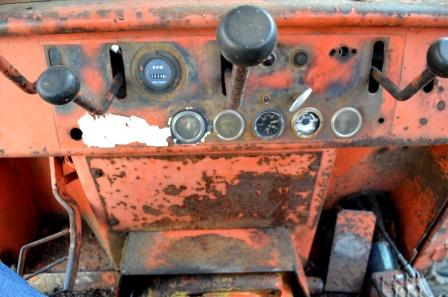 Cab Controls in Timberjack 450 Skidder