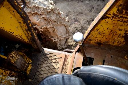 Cab interior of Clark 667C Skidder
