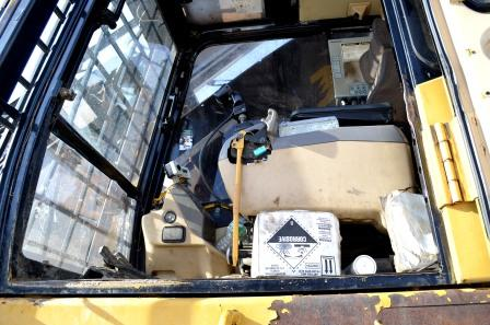 Cab of CAT 320B with Forestry Package