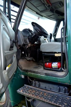 Cab of International 4300 Chip Truck
