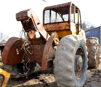 Clark Winch on Clark 667C Skidder