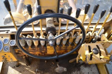 Controls in Cab of Galion Grader