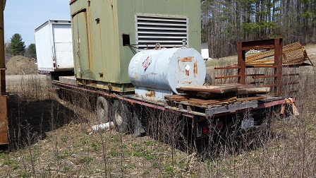 Detroit Diesel Generator on Step Deck Trailer