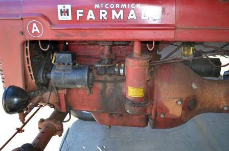 Engine of Farmall Tractor