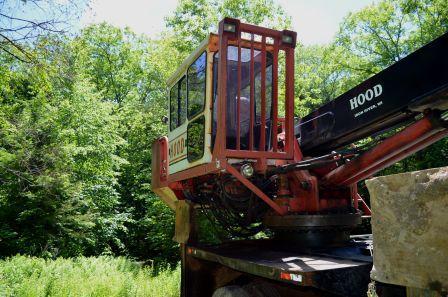 Hood 24000 Log Crane Used Connections Llc