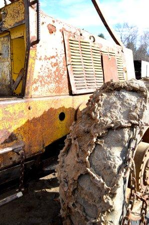 Front Tire on Clark 667C Skidder