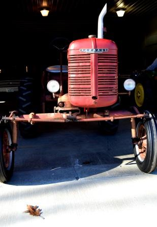 Front view of Farmall Ag Tractor