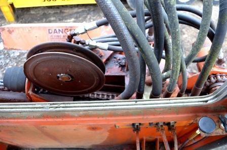 Hydraulic lines on Morbark Chipper