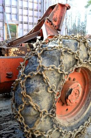 Rear Tire on Timberjack 450 Skidder