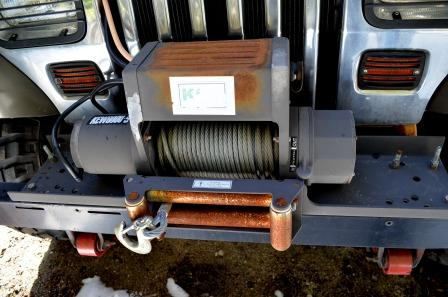 Winch on Wrangler Jeep